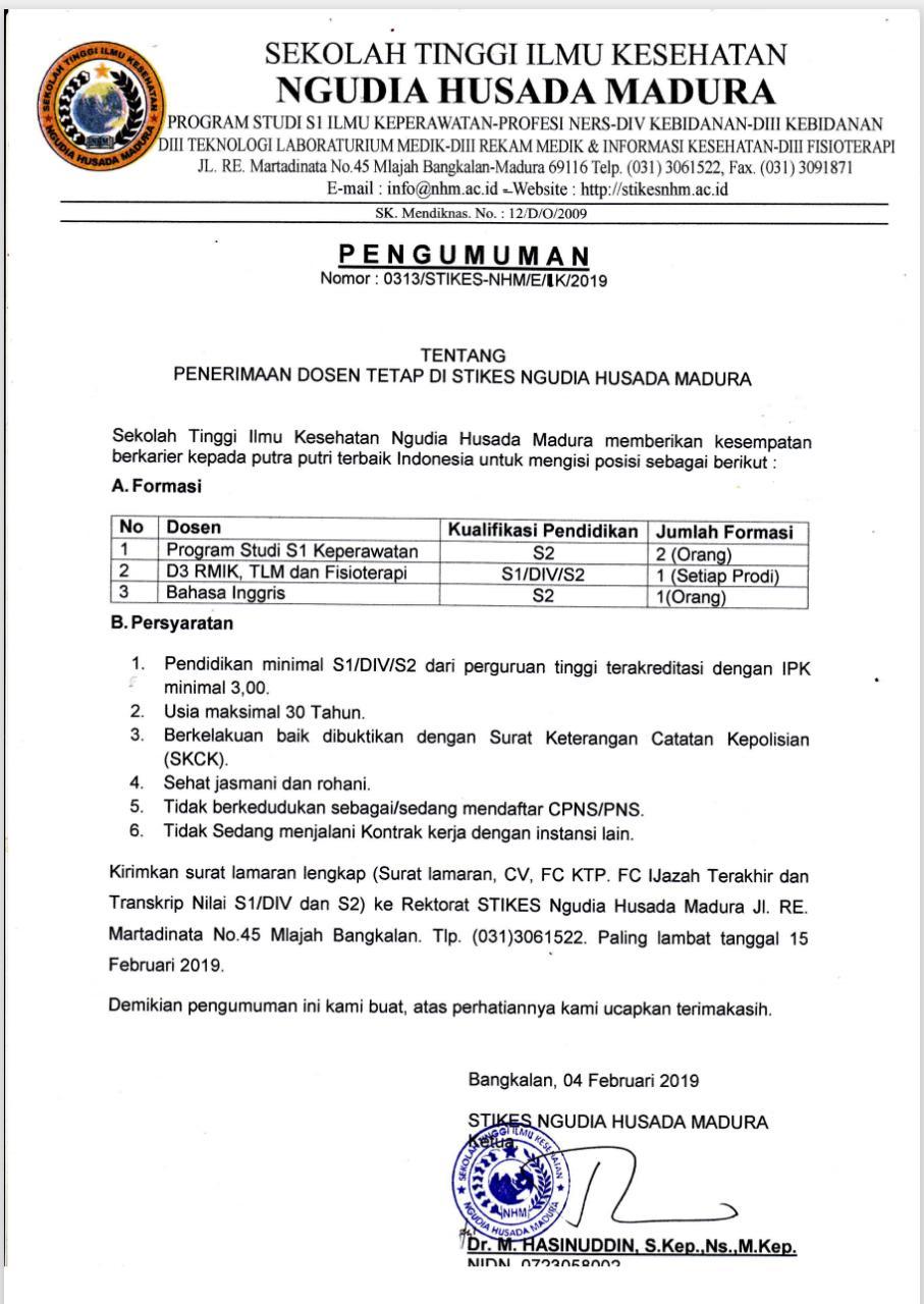 Recrutment Dosen Tetap