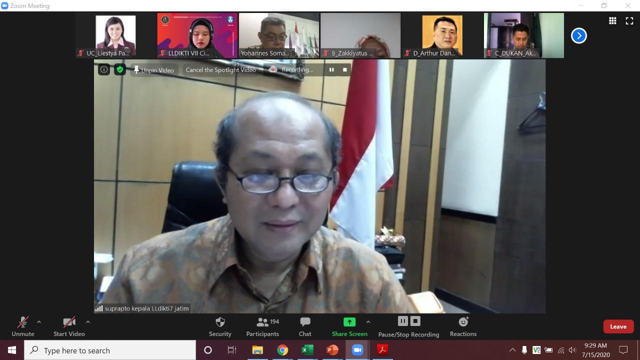 Workshop online strategi peningkatan akreditasi memalui spmi