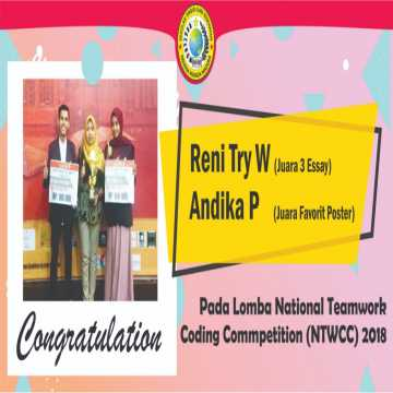 juara lomba national teamwork coding competition ntwcc